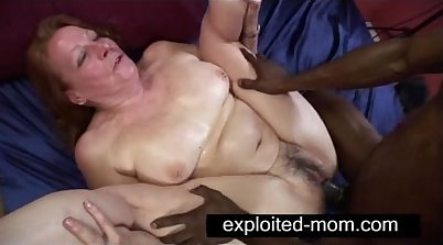 Black Cock For Granny In Tight Tights of Both Her Holes In Katrina Silver