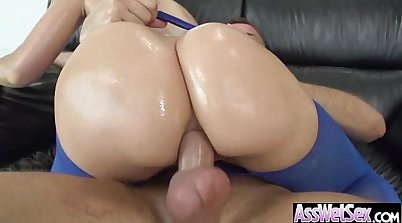 Kei Lei fills her ass up with oil while assfucked at the jail