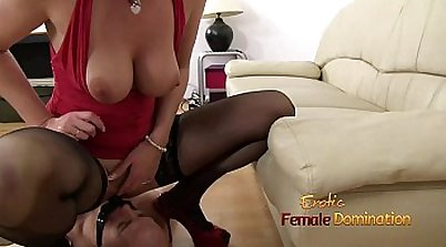 Blonde mistress samantha playing with dildo