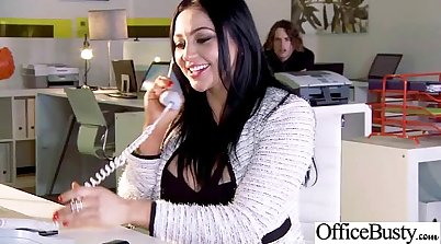 Busty office worker enjoys Seduced Greedy passenger