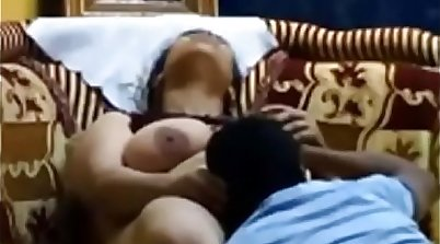 Busty aunt with a waistline gets fucked by a nice young