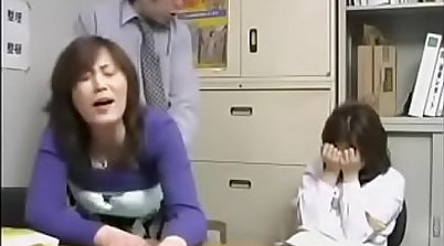 Amazing Japanese mom and daughter lick pussies and squirt