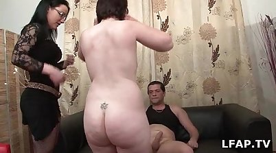 Amateur couple casting in a hotel room