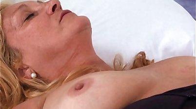 Brazilian granny gets a loaded load in her rectum