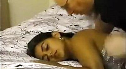 Vicious white bitch lets two young Indians fuck her length