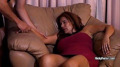 Lucky dude bj fucks hot mature redhead