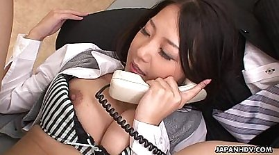Asian slut Lola Ares was hot to spend threesome with