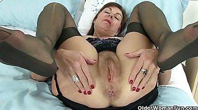 British granny harsh rear fuck