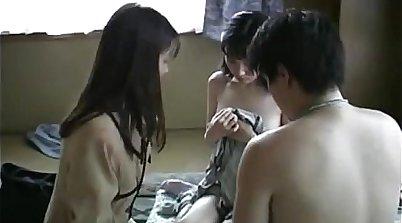 Japanese family fuckers threesome
