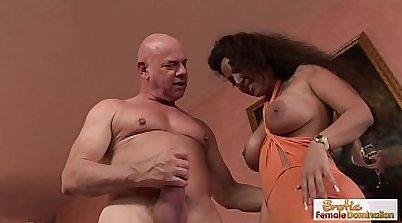 lovely beauty is getting a fat cock in her girlfriend